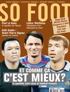Couverture so foot, magazine mêlant football, société et culture. Le tout sous un ton drôle et parfois sarcastique