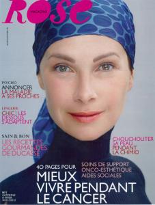 Rose magazine féminin qui parlent aux malades atteint du cancer